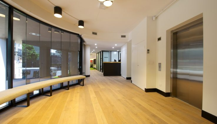 Office reception designer fitout