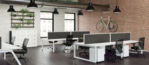 modern office with modern office furniture
